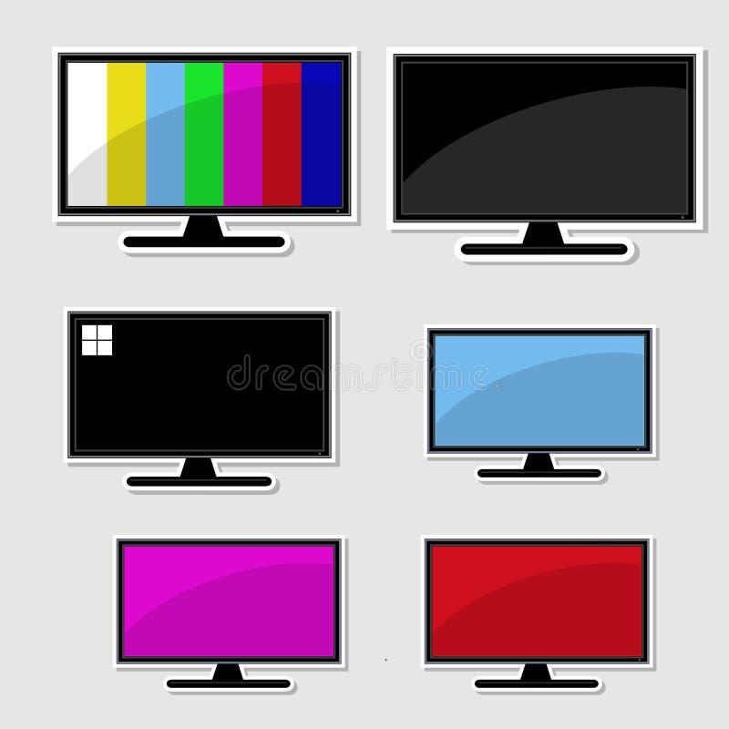 Set of televison banner stock illustration