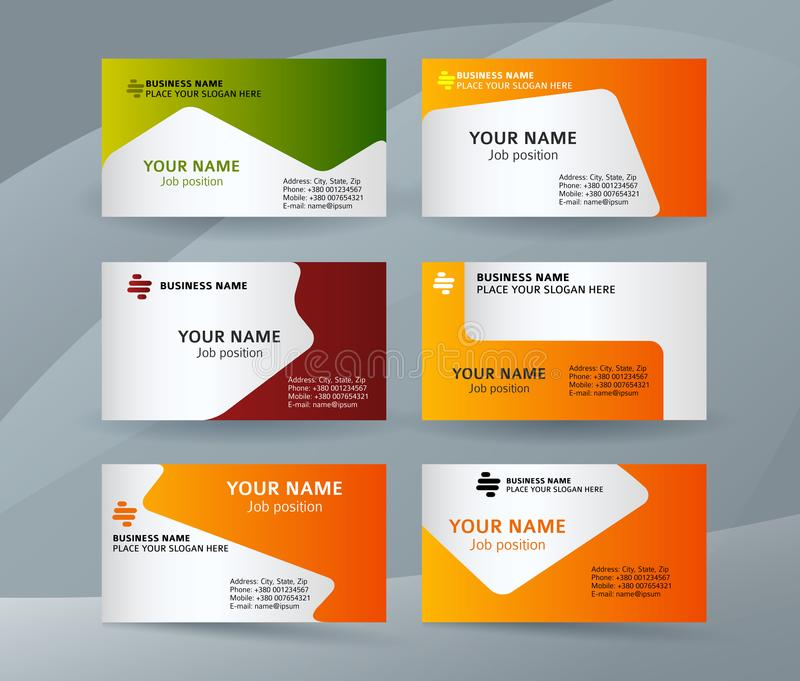 Set template business card layout sided05 royalty free illustration