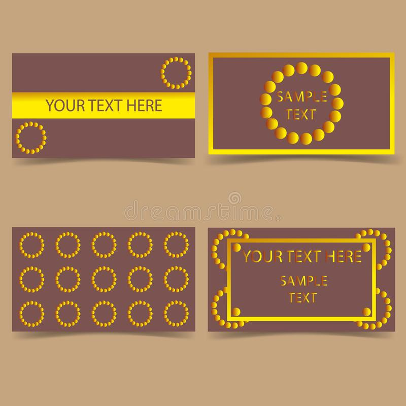 Set-template-business-card-modern-design stock illustration