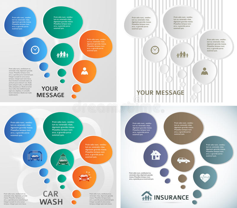 Set template number steps Presentation Powerpoint09. Set abstract background bubbles corporate concepts with template infographics. Vector illustration EPS 10 vector illustration