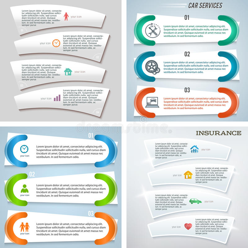 Set template number steps Presentation Powerpoint08. Set abstract background corporate concepts with template infographics. Vector illustration EPS 10 for vector illustration