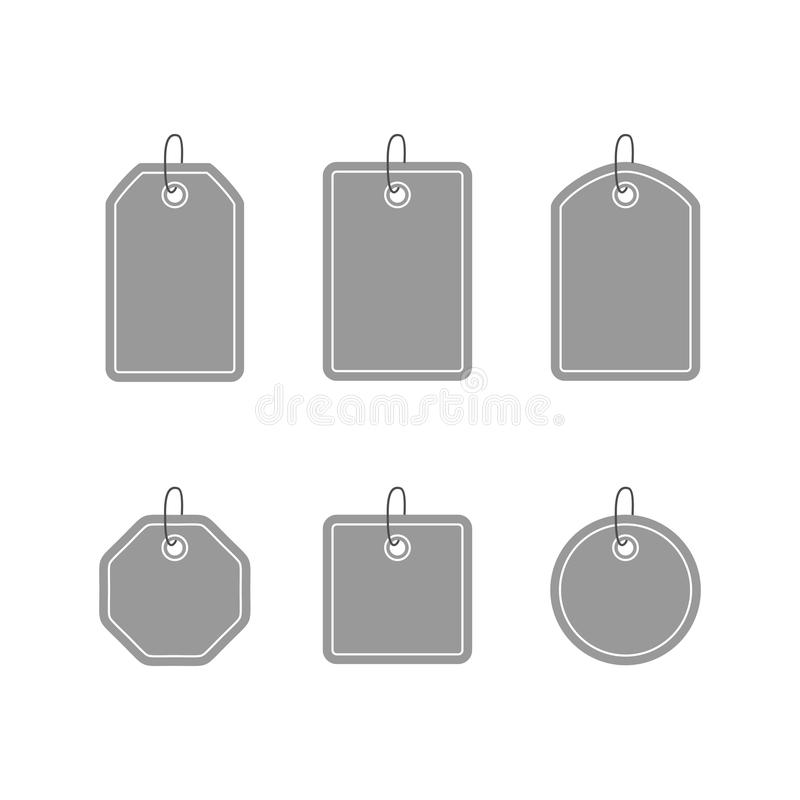 Set of template tags, labels and stickers stock illustration