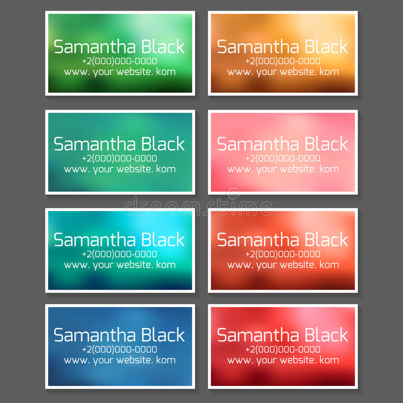 A set of templates for business cards, coupons and vouchers royalty free illustration