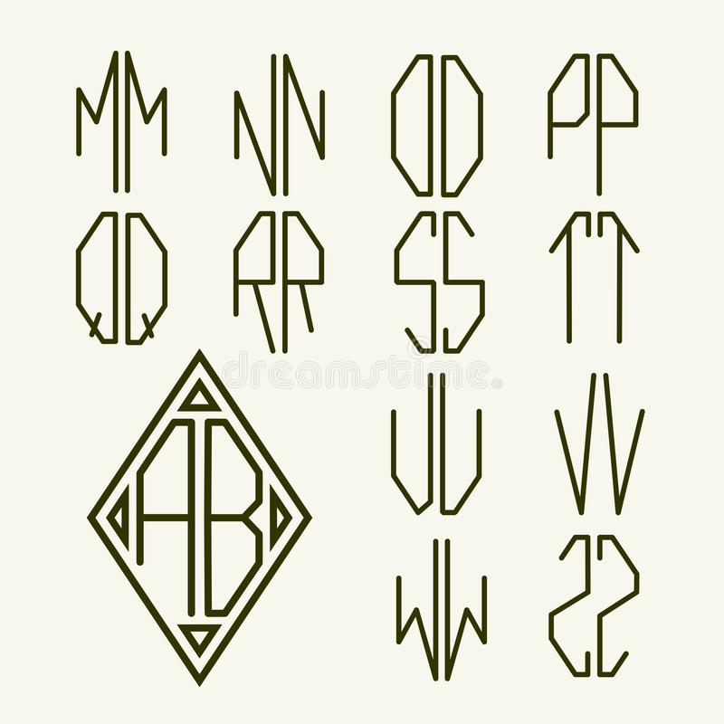 Download Set 2 Templates Of Letters To Create Monogram Stock Vector    Illustration Of Logo,  Templates For Letters