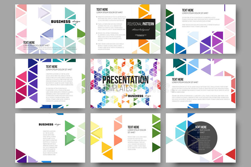 set of 9 templates for presentation slides abstract all free download vector design all free download vector ai