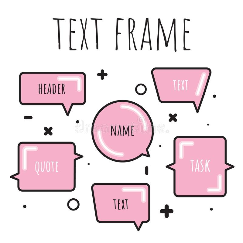 A set of templates for the text in watercolor style. Colorful text box. A set of templates for the text in watercolor style stock illustration