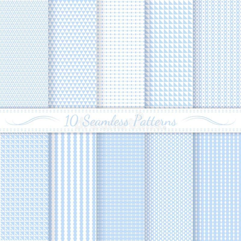 Set of ten subtle seamless patterns. vector illustration