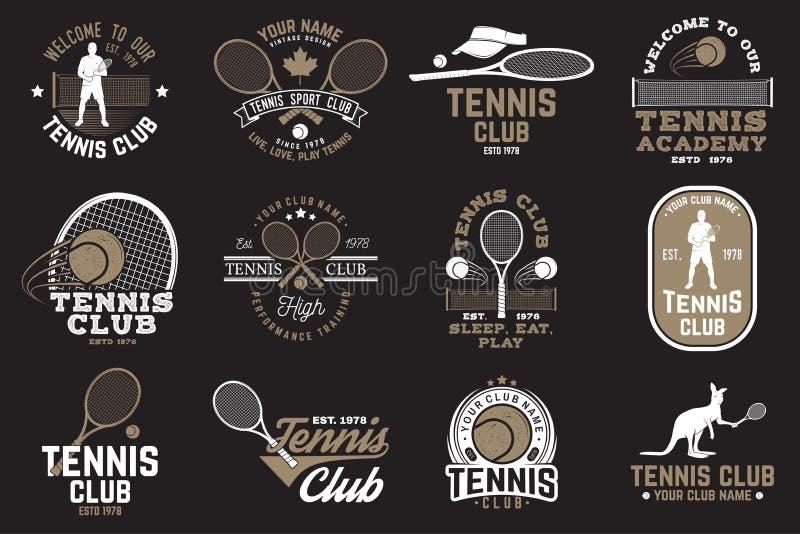 Set of Tennis club badges vector illustration