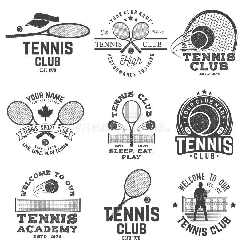 Set of Tennis club badges royalty free illustration