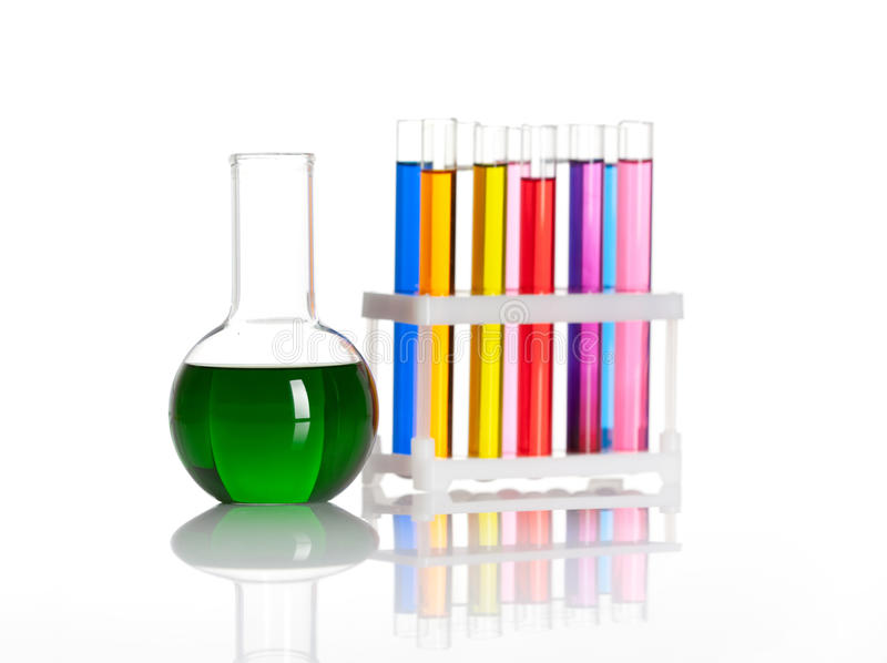 Download Set Of Test Tubes And Flask Stock Image - Image: 26000883
