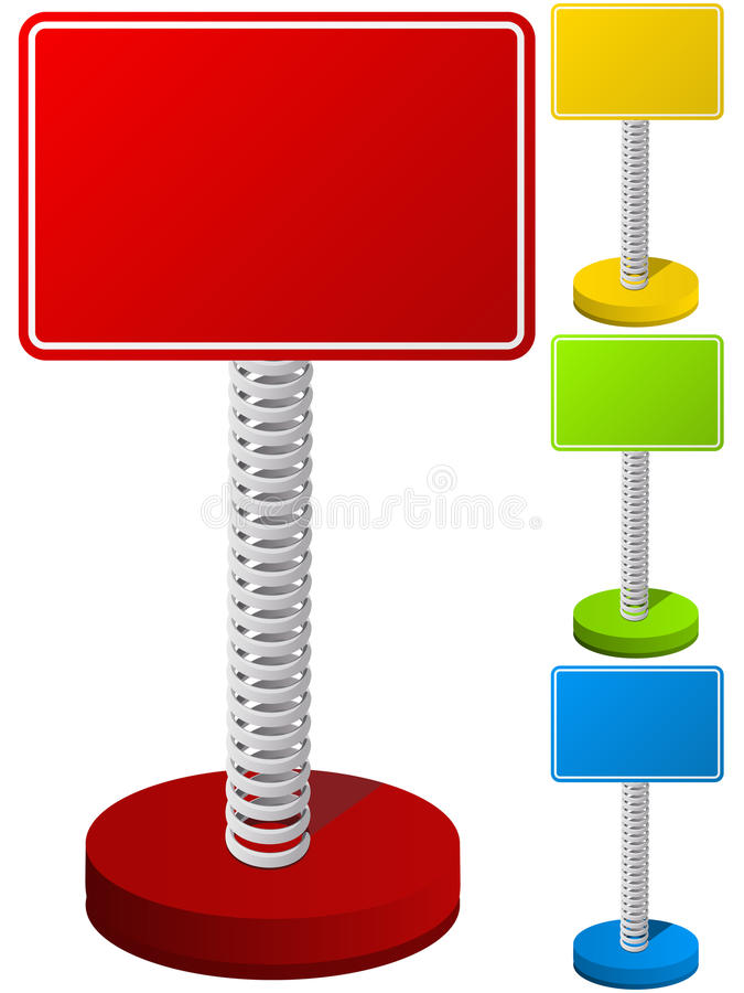 Download Set Of Text Box On Metal Spring Stock Vector - Illustration: 20536968