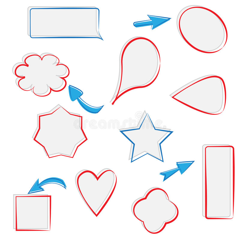 Set of text frames and arrows stock illustration