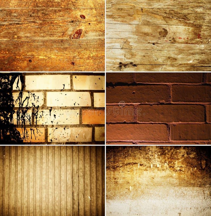 set textur för grunge fotografering för bildbyråer