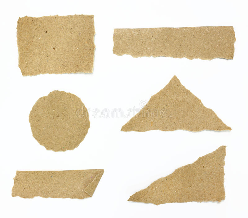 Set of textured recycle torn edges paper royalty free stock photography