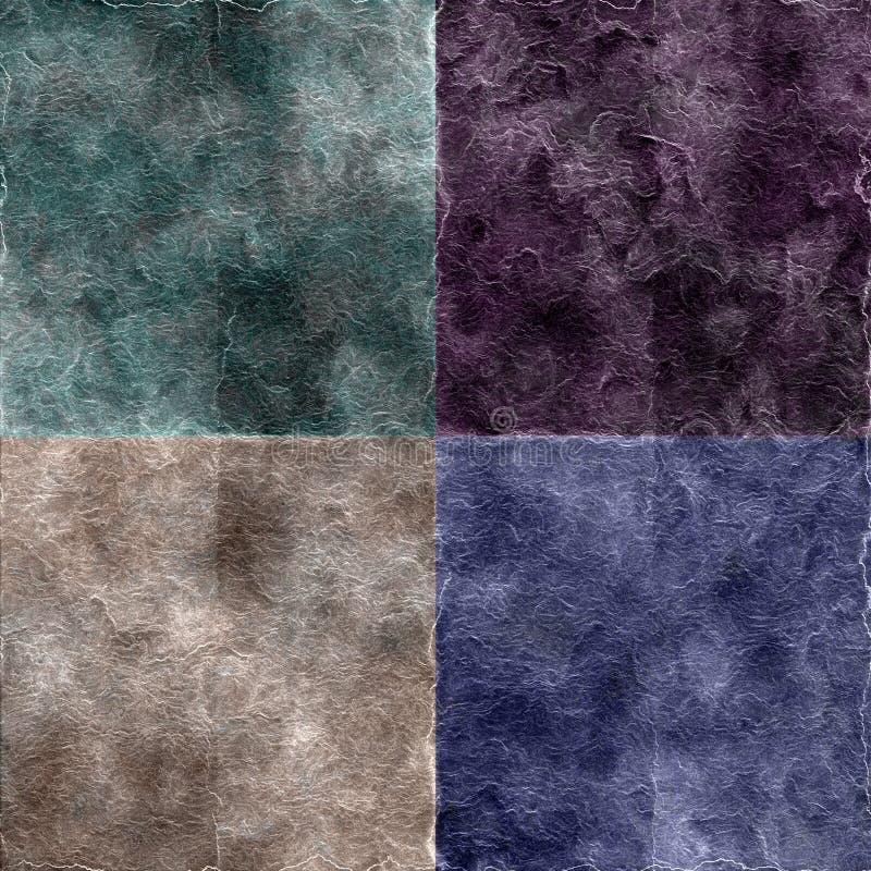 set texturer för grunge vektor illustrationer