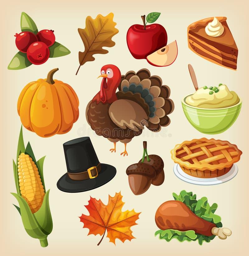 Set for thanksgiving day stock illustration