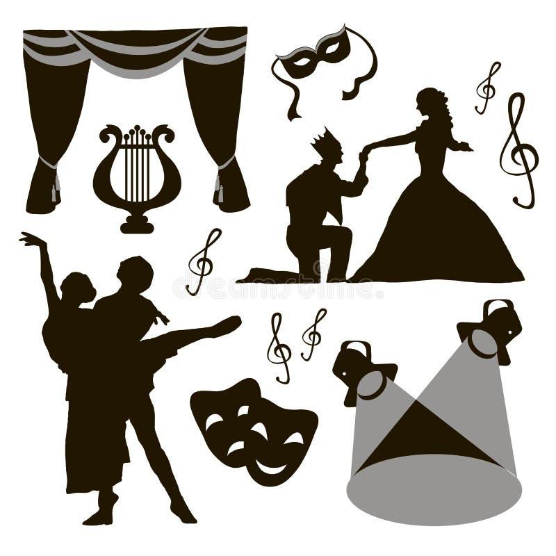 set of theatre acting performance icons stock vector illustration rh dreamstime com drama victorians drama victorians ks2 short play