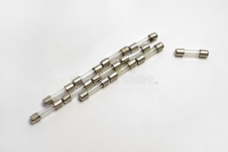 Set of thermal fuses for inserting into the electronic circuit royalty free stock photo