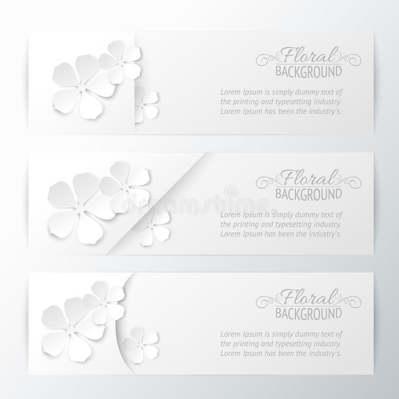 Download Set of three banners stock vector. Image of element, ornate - 29724384