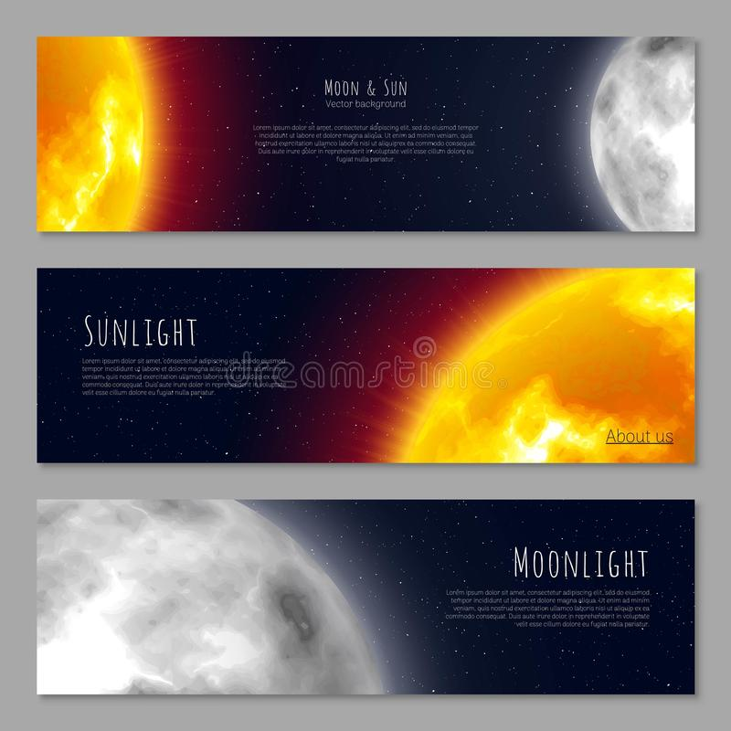 Set three business cards cosmos theme copy space realistic stock download set three business cards cosmos theme copy space realistic stock vector colourmoves