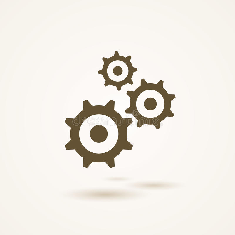 Set of three gears or cogs in different sizes vector illustration
