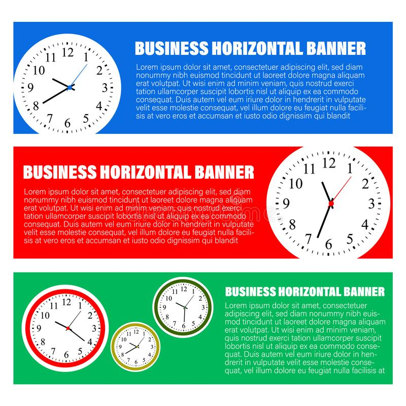 Set of three horizontal business banners templates royalty free illustration