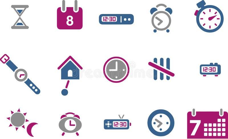 set tid för symbol stock illustrationer