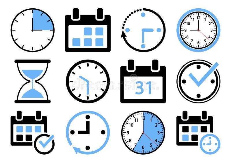 Set of time management icons. Vector illustration vector illustration