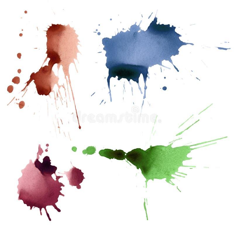 Set Tinte spritzt stock abbildung