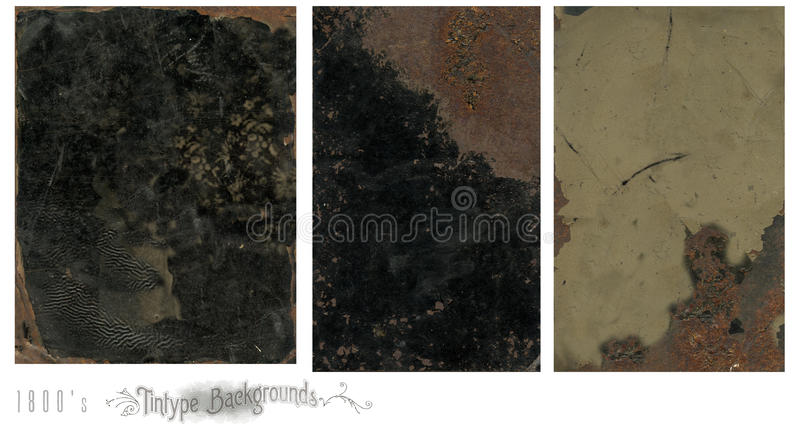 Tintype Vintage Backgrounds Royalty Free Stock Images