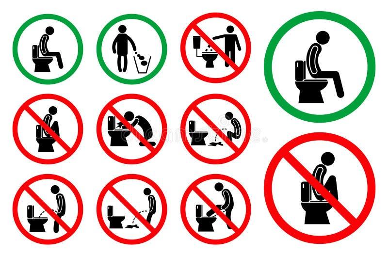 Set toaletowy higiena znak łatwy modyfikować royalty ilustracja