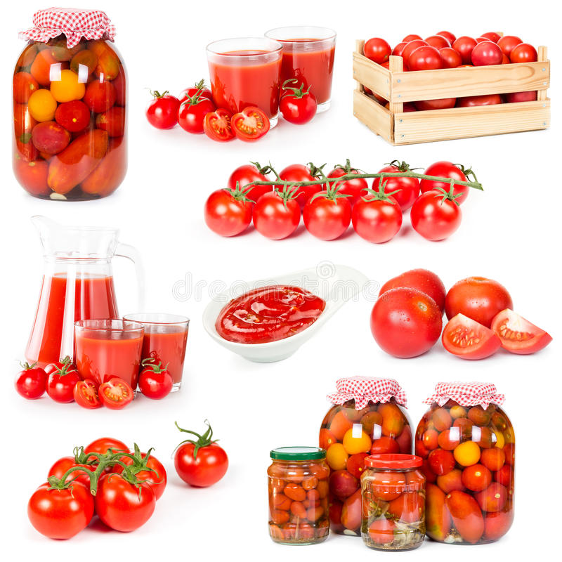 Set Tomaten stockfoto