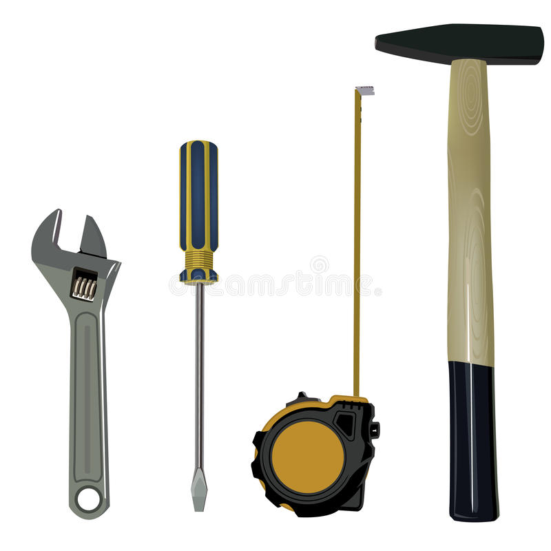 Download Set tool stock illustration. Image of steel, handle, measurement - 17575179