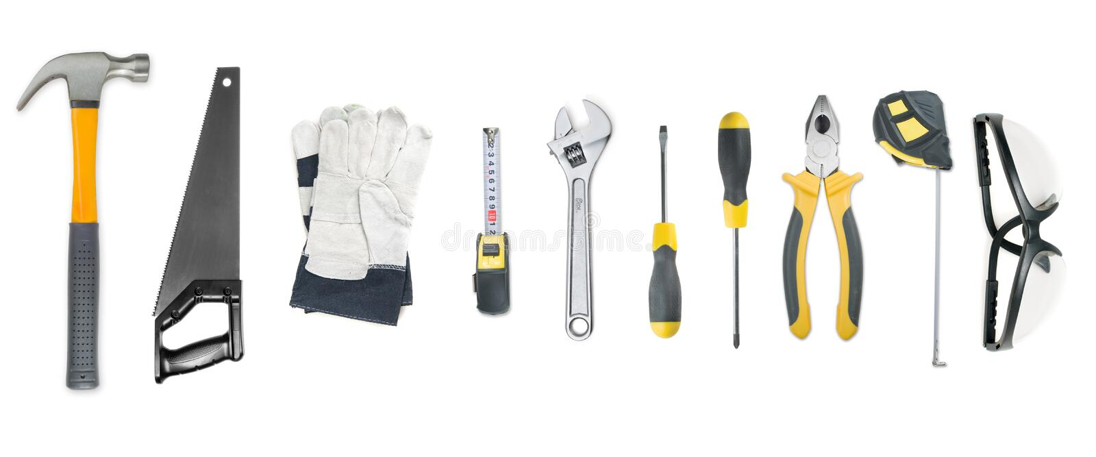 Download Set of tool stock image. Image of repairing, measure, scale - 9576957