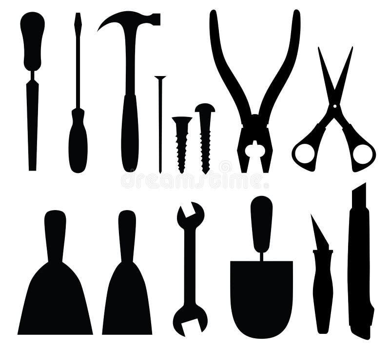 Set of tools stock illustration