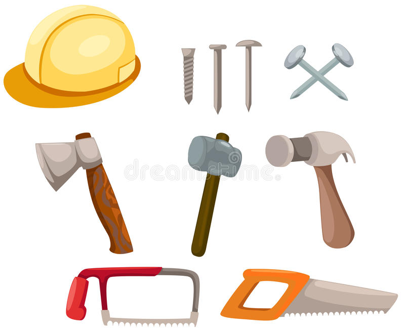 Set of tools construction royalty free illustration