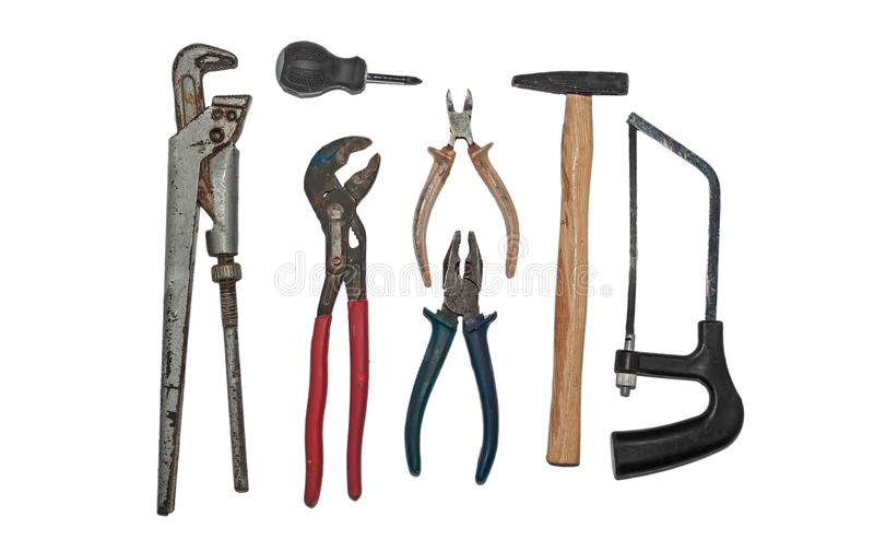 A set of tools for plumbing royalty free stock photo
