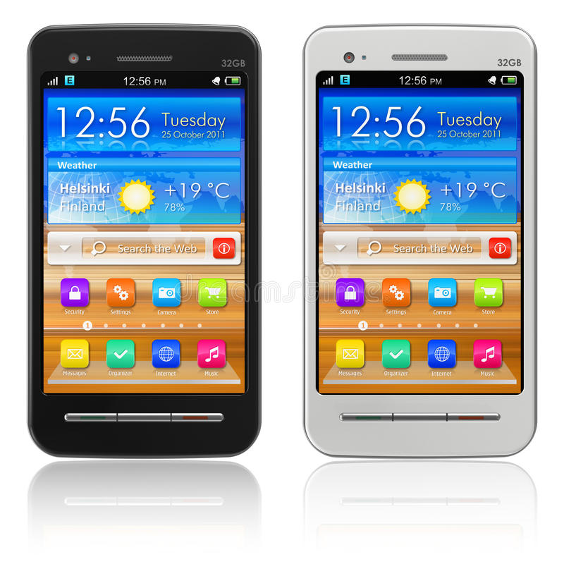 Download Set Of Touchscreen Smartphones Stock Illustration - Image: 21637477