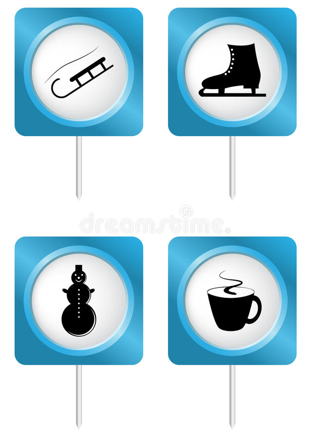 Download Set of tourism symbols stock vector. Image of icon, camping - 26516612