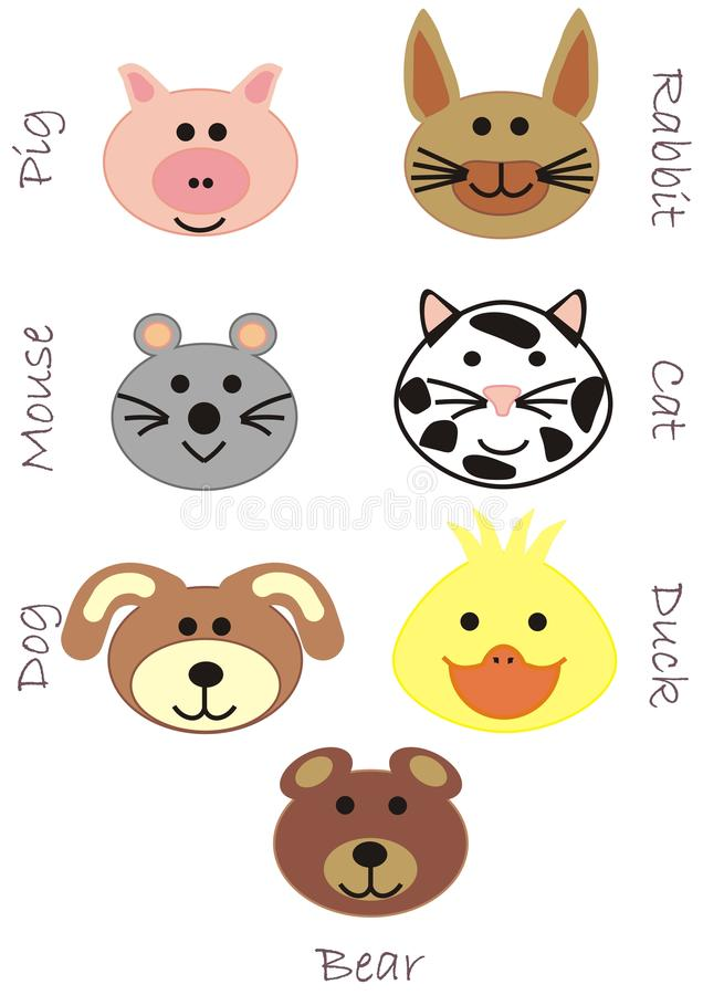 Download Set Of Toy Animal Heads Background Stock Image - Image: 21445481