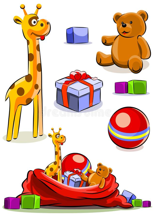 Download Set Toy With Bag For Christmas Royalty Free Stock Photos - Image: 16604018