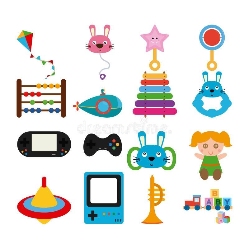 Set of toys royalty free illustration