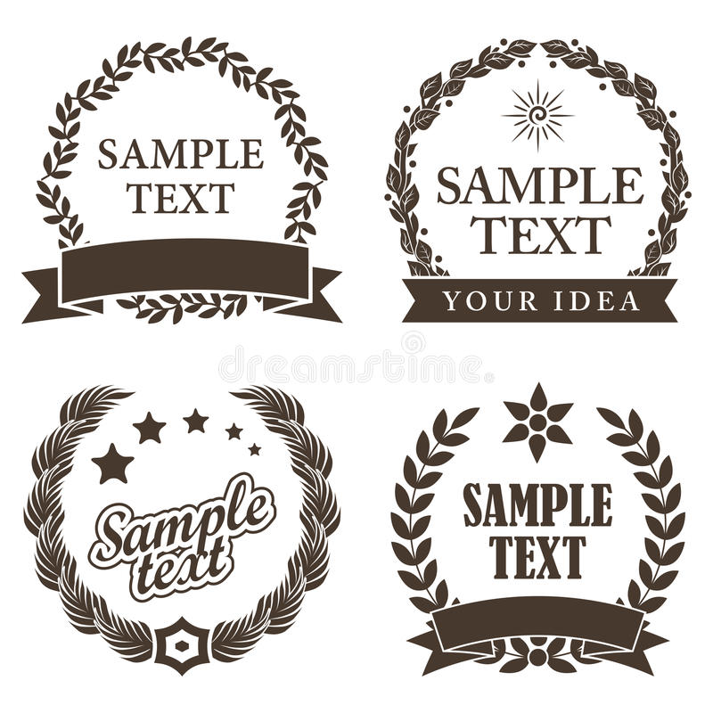 Download Set Of Trade Mark Decorative Labels Stock Vector