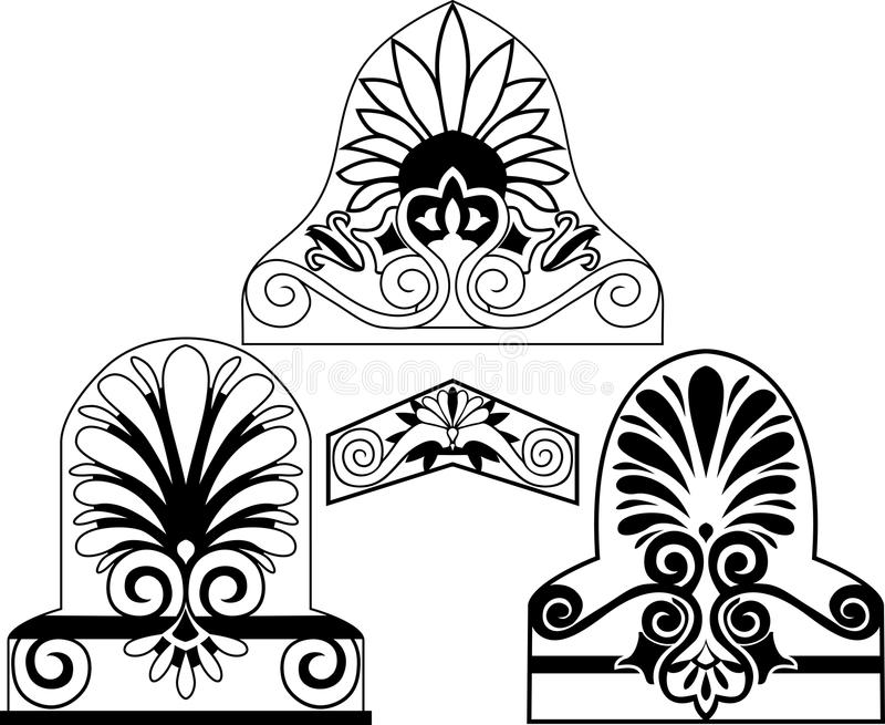 Download Set Of Traditional Architectural Elements Stencil Stock Vector - Image: 18940725