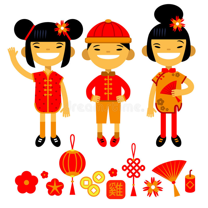 Set Of Traditional Symbols And Characters Of Chinese New Year Two