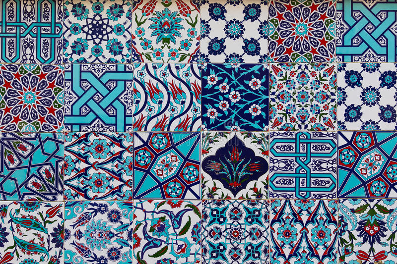 Set Of Traditional Turkish Ceramic Tiles Stock Image - Image of ...