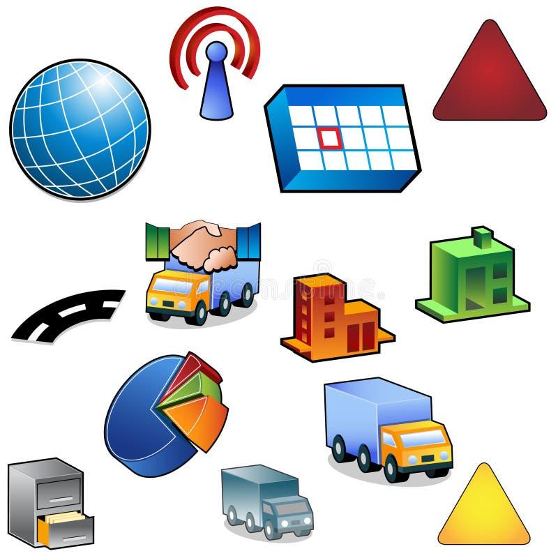 set trafik för symbol stock illustrationer