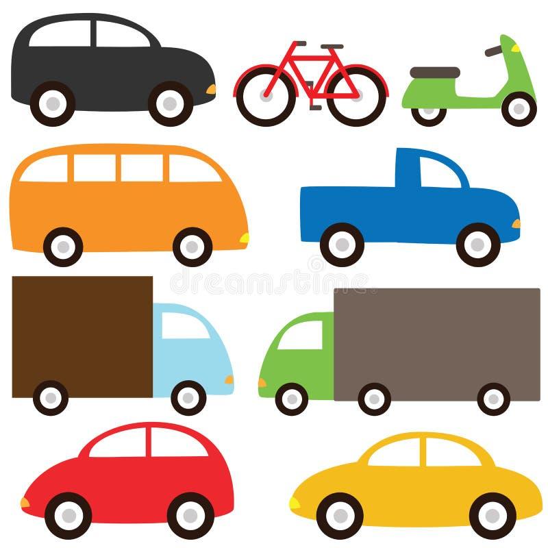 set transport royaltyfri illustrationer