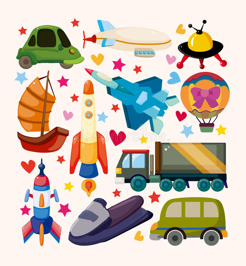 Download Set of Transport icons stock vector. Illustration of fighter - 30545247