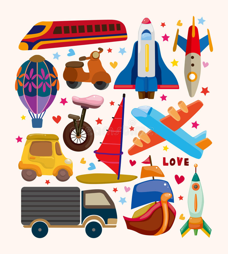 Download Set of transport icons stock vector. Image of tour, boat - 30608409
